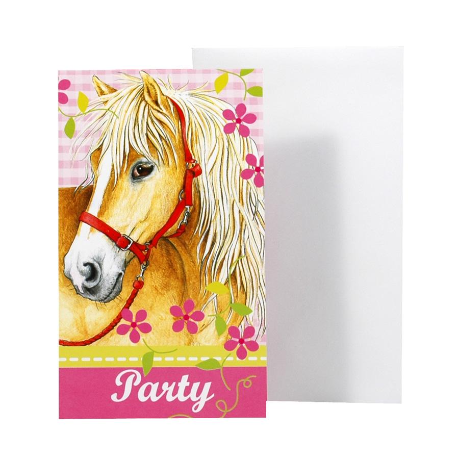 Extrem 6 cartes d'invitation cheval pour l'anniversaire de votre enfant  GL23