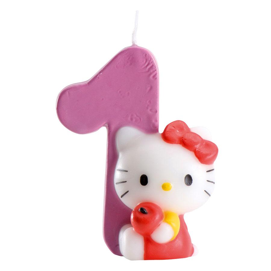 bougie hello kitty 1 pour lanniversaire de votre enfant annikids