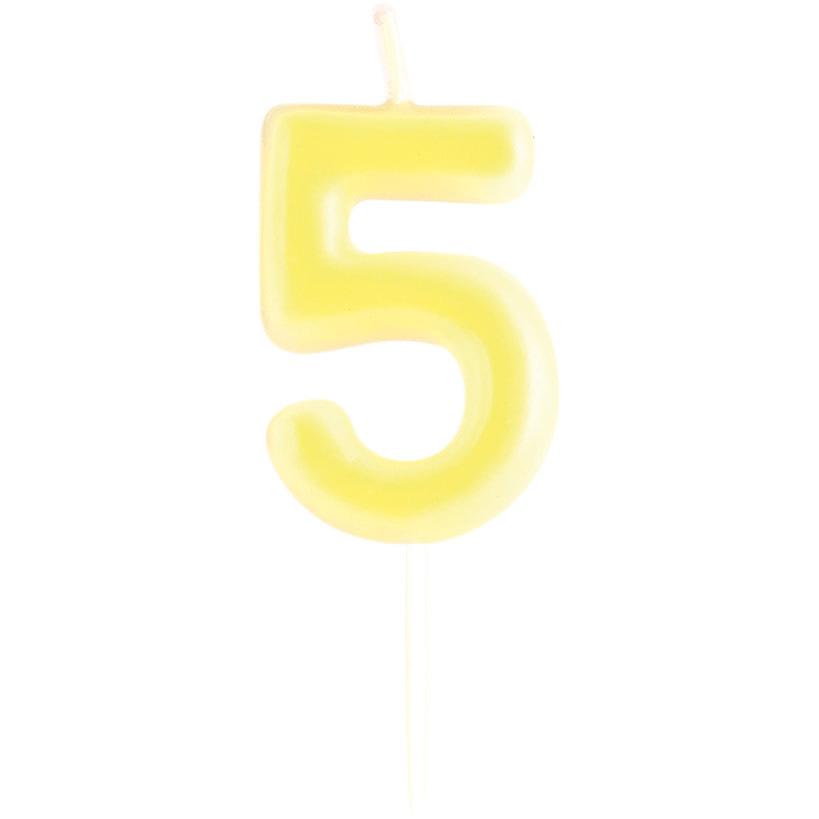 Numéro 21 Paillettes chiffre moulé Pick Candle Gold
