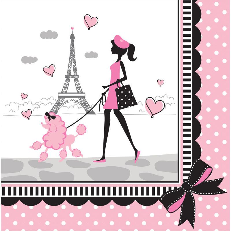 18 Serviettes Paris Chic Pour L Anniversaire De Votre Enfant Annikids