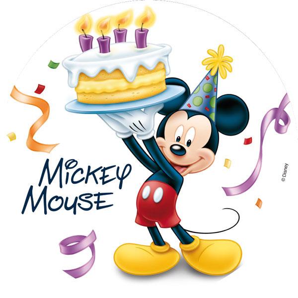 Carte Anniversaire Mickey.Disque En Sucre Mickey Mouse