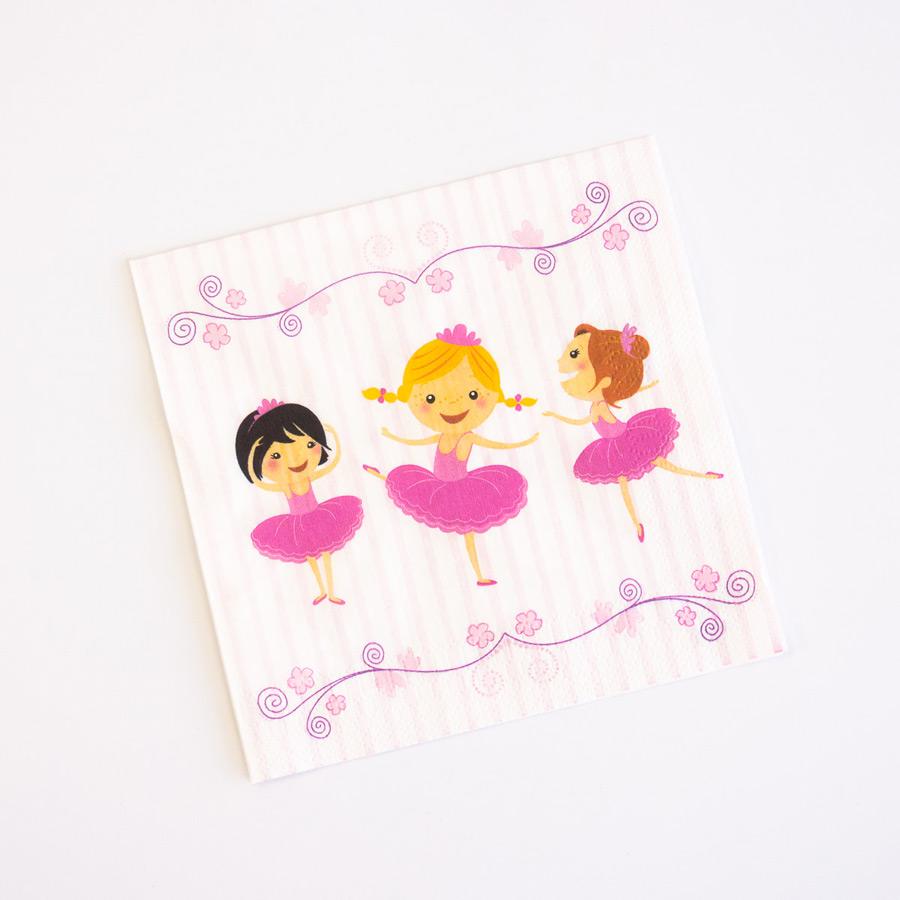 20 Serviettes Ballerine Jolie Lot de 20 serviettes Ballerine Jolie avec... par LeGuide.com Publicité