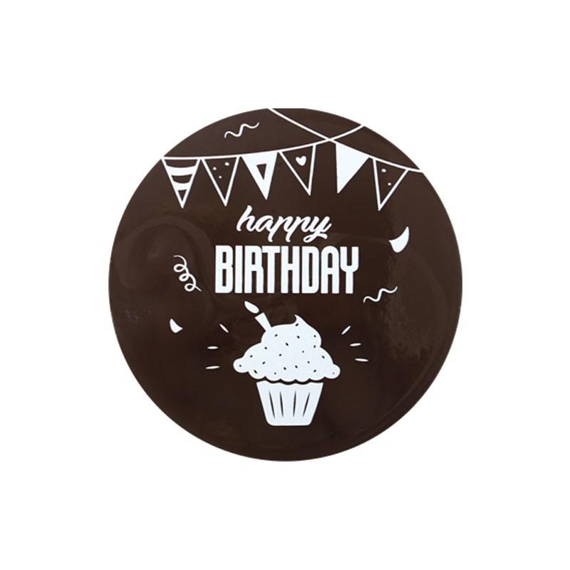 24 Bière Logos Étiquettes Anniversaire Cupcake Toppers Pré Cut