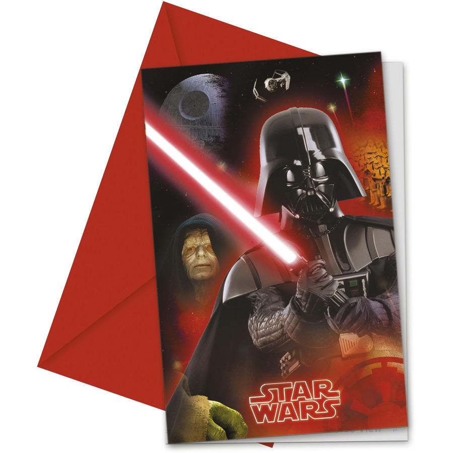6 Invitations Star Wars Lot de 6 invitations Star Wars pour mettre les... par LeGuide.com Publicité
