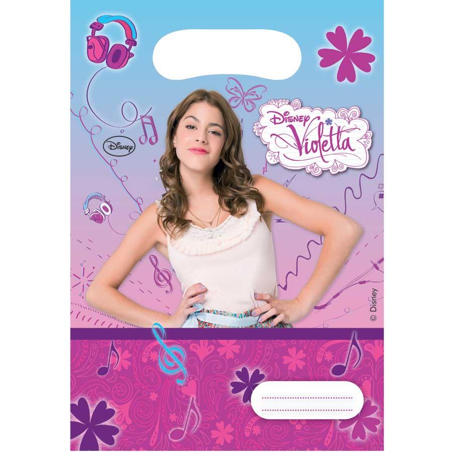 Préférence 6 cartes d'invitation violetta pour anniversaire - Annikids KK46