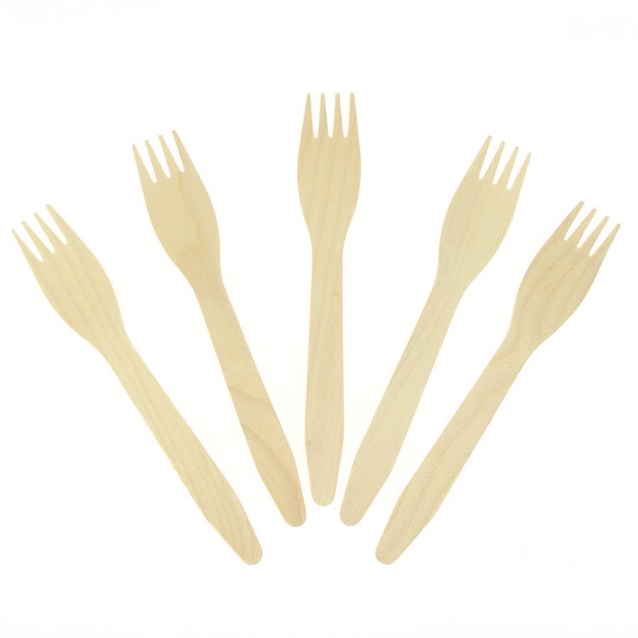 10 Fourchettes en Bois - Biodégradable 10 fourchettes en bois écologique... par LeGuide.com Publicité