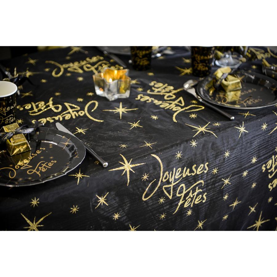 Nappe Joyeuses Fêtes Noire (145 x 250 cm) - Organza Une grande nappe... par LeGuide.com Publicité