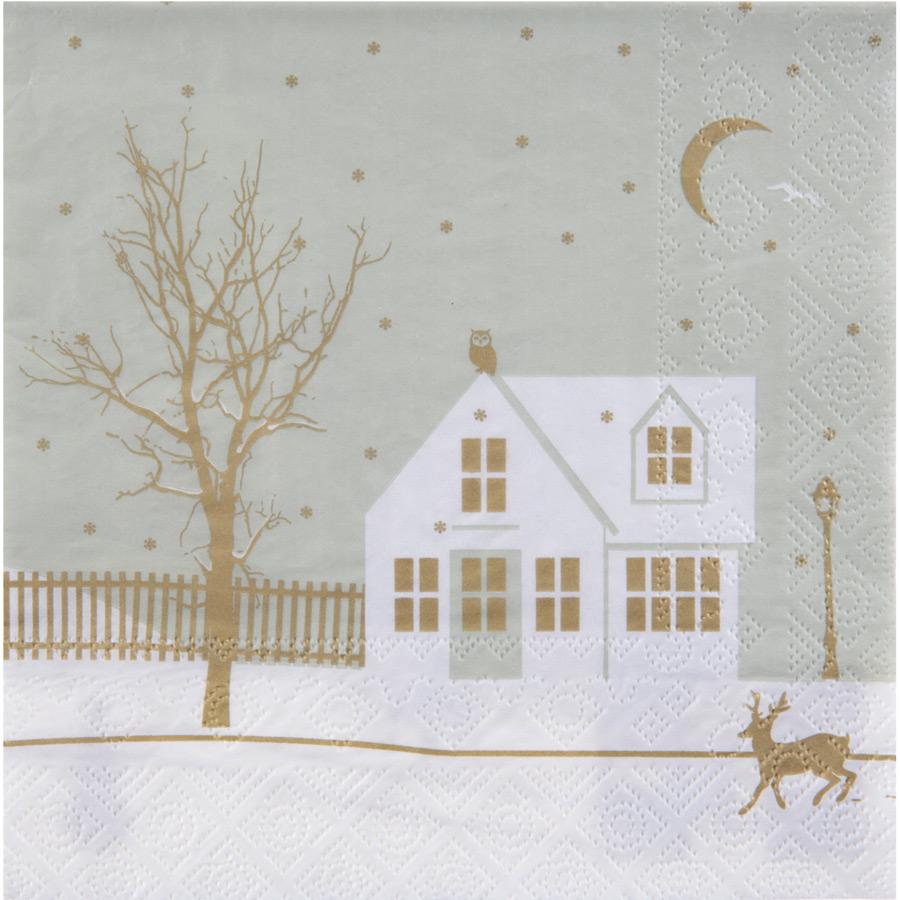 20 Serviettes Village de Noël Lot de 20 serviettes Village de Noël au... par LeGuide.com Publicité