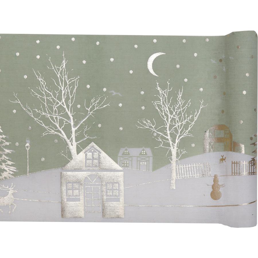 Chemin de Table Village de Noël (3 m) - Coton Un rouleau de Centre de... par LeGuide.com Publicité