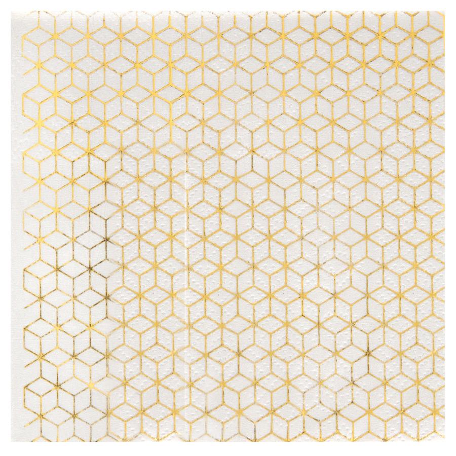 20 Petites Serviettes Azulejos Latina Or Lot de 20 petites serviettes... par LeGuide.com Publicité