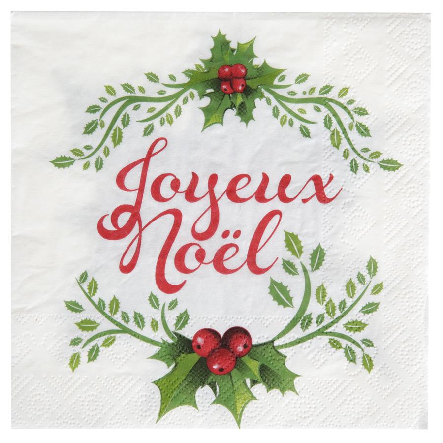 20 Serviettes Joyeux Noël Lot de 20 serviettes Joyeux Noël, à compléter... par LeGuide.com Publicité