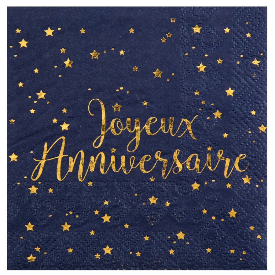 20 Petites Serviettes Joyeux Anniversaire Bleu Nuit Lot de 20 petites... par LeGuide.com Publicité