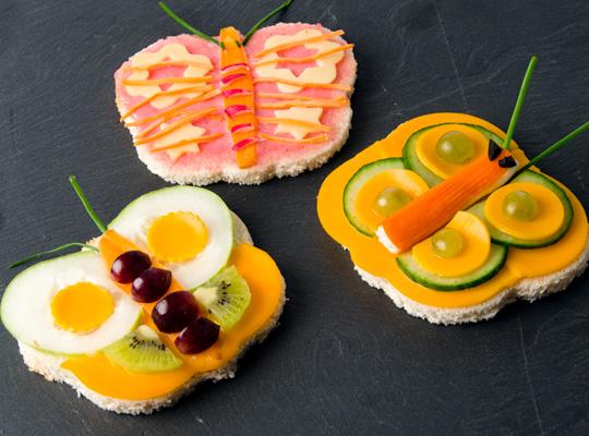 Des sandwichs beaux et rigolos