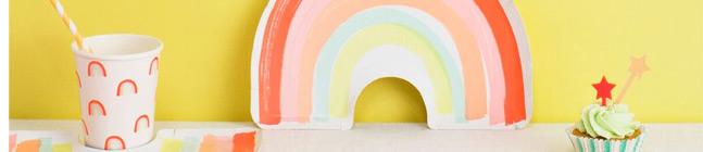 Thème d'anniversaire Magic Rainbow pour votre enfant