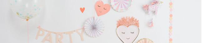 Thème d'anniversaire love coeur pour votre enfant