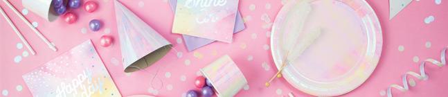 Thème d'anniversaire Pastels iridescents pour votre enfant