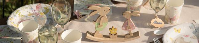 Thème d'anniversaire lapins de printemps pour votre enfant