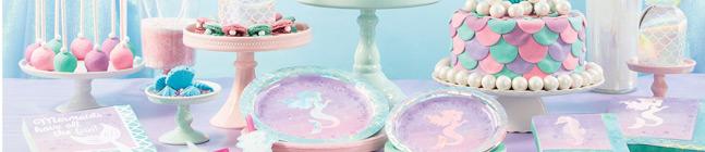 Thème d'anniversaire Sirène iridescente pour votre enfant