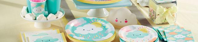 Thème d'anniversaire nuages baby pour votre enfant