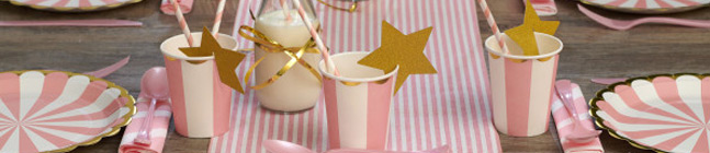 Thème d'anniversaire kermess rose pour votre enfant