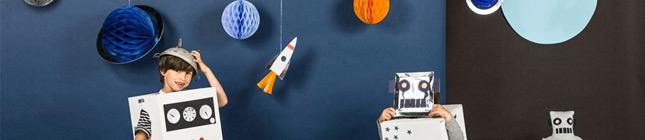 Thème d'anniversaire Voyage dans l'Espace pour votre enfant