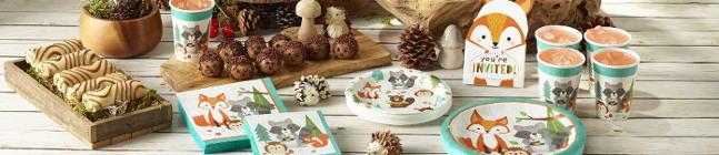 Thème d'anniversaire Animaux des Bois pour votre enfant