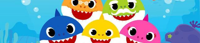 Thème d'anniversaire Baby Shark Jaune pour votre enfant