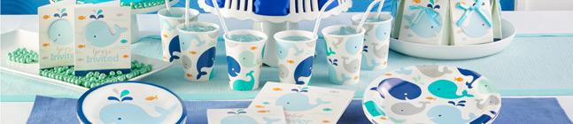 Thème d'anniversaire Baleine Bleue pour votre enfant