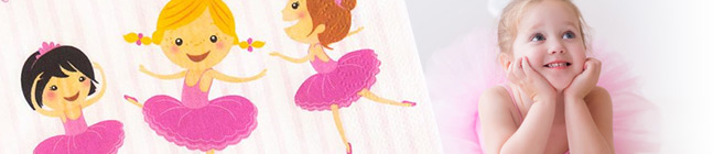 Thème d'anniversaire ballerine jolie pour votre enfant