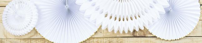 Thème d'anniversaire Festonnées Blanc et Or pour votre enfant