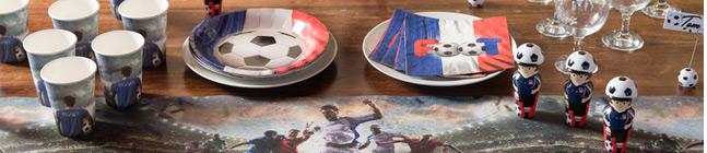 Thème d'anniversaire Foot France pour votre enfant