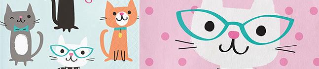 Thème d'anniversaire Chat Chic pour votre enfant