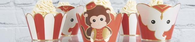 Thème d'anniversaire Feston Rouge Vintage Circus pour votre enfant