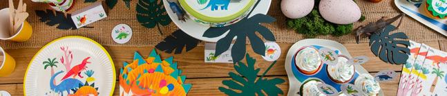 Thème d'anniversaire Dino Colors pour votre enfant