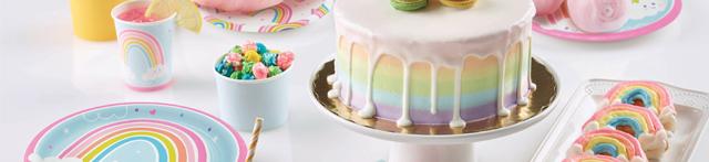 Thème d'anniversaire Joyeux Arc-en-Ciel pour votre enfant