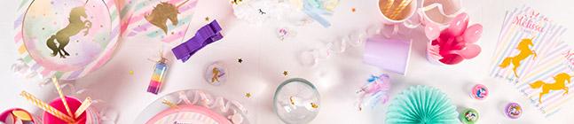 Thème d'anniversaire licorne rainbow pastel pour votre enfant