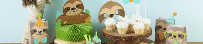 Thème d'anniversaire Paresseux Party pour votre enfant