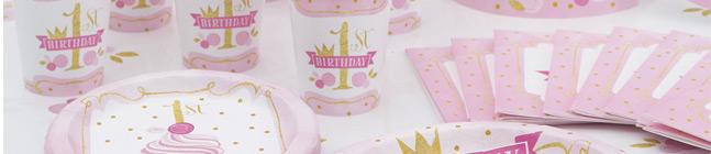 Thème d'anniversaire 1 An Princesse pour votre enfant