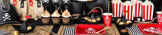 Thème d'anniversaire Pirate Le Rouge pour votre enfant