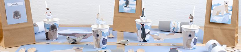 Thème d'anniversaire Animaux Polaires pour votre enfant
