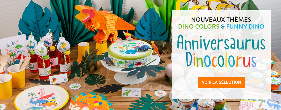 Nouveaux thèmes d'anniversaire Dinosaure