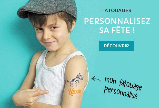 Personnalisez sa fête ! Les tatouages personnalisables !
