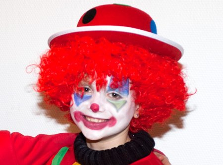 Maquillage clown enfant simple pour fille et gar on annikids - Maquillage de clown facile ...