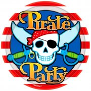 8 Assiettes Pirate Party