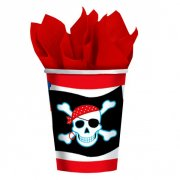 8 Gobelets Pirate Party