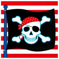 Contient : 1 x 16 Serviettes Pirate Party