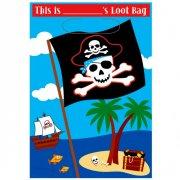 8 Pochettes à cadeaux Pirate Party