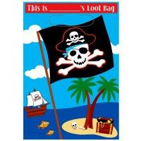 Contient : 1 x 8 Pochettes à cadeaux Pirate Party