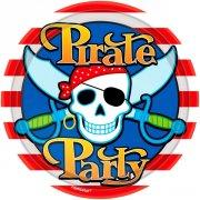 8 Petites assiettes Pirate Party