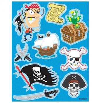 Planches d autocollants pirate carte au trésor